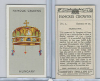 P50-103 Phillips, Famous Crowns, 1938 Royalty, #1 Hungary