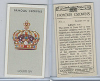 P50-103 Phillips, Famous Crowns, 1938 Royalty, #2 Louis XV France
