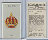 P50-103 Phillips, Famous Crowns, 1938 Royalty, #11 Brazil