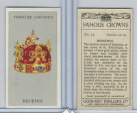 P50-103 Phillips, Famous Crowns, 1938 Royalty, #12 Bohemia