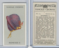 P50-103 Phillips, Famous Crowns, 1938 Royalty, #13 Rameses II, Egypt
