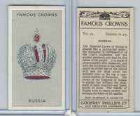 P50-103 Phillips, Famous Crowns, 1938 Royalty, #15 Russia