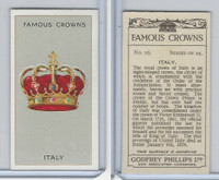 P50-103 Phillips, Famous Crowns, 1938 Royalty, #16 Italy