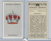 P50-103 Phillips, Famous Crowns, 1938 Royalty, #19 Roumania