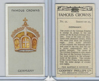 P50-103 Phillips, Famous Crowns, 1938 Royalty, #21 Germany