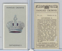 P50-103 Phillips, Famous Crowns, 1938 Royalty, #22 Catherine II