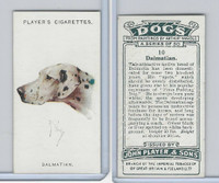 P72-90 Player Tobacco, Dogs, 1929, #10 Dalmatian