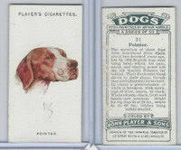 P72-90 Player Tobacco, Dogs, 1929, #21 Pointer