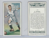 P72-100 Player, Footballers 1928, #14 J. Fowler, Swansea Town