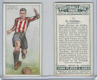 P72-100 Player, Footballers 1928, #15 D. Halliday, Sunderland