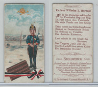 S0-0 Stollwerck Chocolate, Boy Soldiers, 1900, #79, I Kaiser Wilhelm, Hurrah
