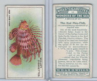 W62-187 Wills, Wonders of the Sea, 1928, #10 Red Fire Fish