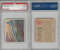 1950 Bowman, Wild Man, #26 Skyliner, Airplane, PSA 7.5 NM+