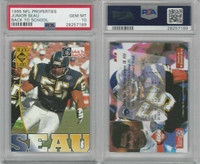 1995 NFL Properties Football, # Junior Seau, Chargers, PSA 10 Gem
