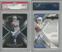 2008 Upper Deck Starquest Football, #SQ25 Peyton Manning, Colts, PSA 10 Gem