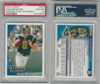 2010 Topps Football, #300 Sam Bradford RC, Rams, PSA 10 Gem
