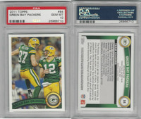 2011 Topps Football, #84 Aaron Rodgers, Nelson, Packers, PSA 10 Gem