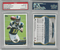 2013 Topps Football, #112 Tavon Austin RC, Rams, PSA 10 Gem