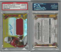2013 Topps Finest Football, #AJRAE Ellington RC AUTO Relic, PSA 10 Gem