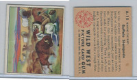 1949 Bowman, Wild West, #A-15 Buffalo Stampede