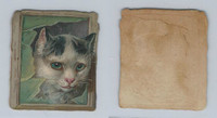 1890's Y95 Victorian Diecut, Animal Head, Cat, ZQL