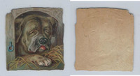 1890's Y95 Victorian Diecut, Animal Head, Dog, ZQL