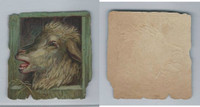 1890's Y95 Victorian Diecut, Animal Head, Sheep, ZQL