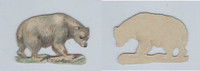 1890's Y95 Victorian Diecut, Animal, Polar Bear, ZQL