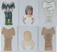 1895 Stollwerck Chocolate, Little Statuette, Little Boy Blue Paper Doll, ZQL