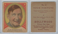 V289 Hamilton, Hollywood Picture Stars, 1938, #31 Slim Summerville (B)