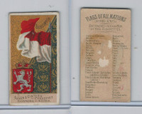 N10 Allen & Ginter, Flags of all Nations, 1890, Bohemia
