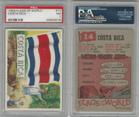1956 Topps, Flags of the World, #14 Costa Rica, PSA 7 NM