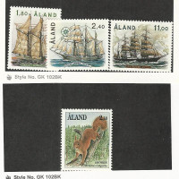 Aland (Finland), Postage Stamp, #31-33, 46 Mint NH, 1988 Ships, Squirrel