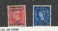 Great Britain Offices Morocco, Postage Stamp, #102, 106 Used, 151-55