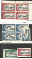 Canal Zone (USA), Postage Stamp, #C36-38 Mint NH, C37, C38 Blocks, 1964