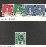 Ceylon, Postage Stamp, #275-277, MR2 Mint LH, 1918-37 British