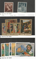 Cook Islands, Postage Stamp, #145-146, 170-174, 422-26 Mint Hinged, 1953-75