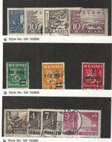 Finland, Postage Stamp, #177-9, 205, 195-6, 212, 214, 219-B Used, 1930-42