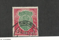 India, Postage Stamp, #96 Used, 1911 Dindigul Cancel