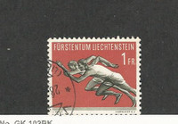Liechtenstein, Postage Stamp, #300 Used, 1956 Running