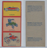 W670-1 Flip Cards, Collectibles Automobiles, 1950's, 3 Panel, Auburn, Maxwell