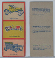 W670-1 Flip Cards, Collectibles Automobiles, 1950's, 3 Panel, Overland, Stutz
