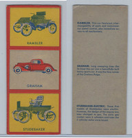W670-1 Flip Cards, Collectibles Automobiles, 1950's, 3 Panel, Rambler, Grahm