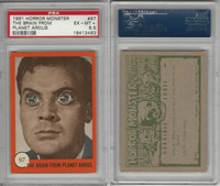 1961 Nu-Cards W531, Horror Monster, #97 Brain From Planet Arous, PSA 6.5
