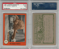 1961 Nu-Cards W531, Horror Monster, #104 The Deadly Mantis, PSA 7 NM