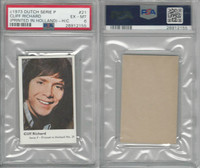 1973 Dutch Gum, Music Artists Mini Card, Series P, #21 Cliff Richard, PSA 6 EXMT