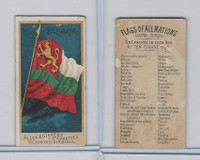 N10 Allen & Ginter, Flags of all Nations, 1890, Bulgaria