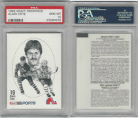 1986 Kraft Drawings Hockey, # Alain Cote, Nordiques, PSA 10 Gem