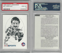 1986 Kraft Drawings Hockey, # Bill Derlago, Jets, PSA 10 Gem