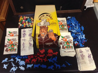 1960's LM Becker, Prize Package Wild West, Box, Wrappers, Toys, Gum, ZQL